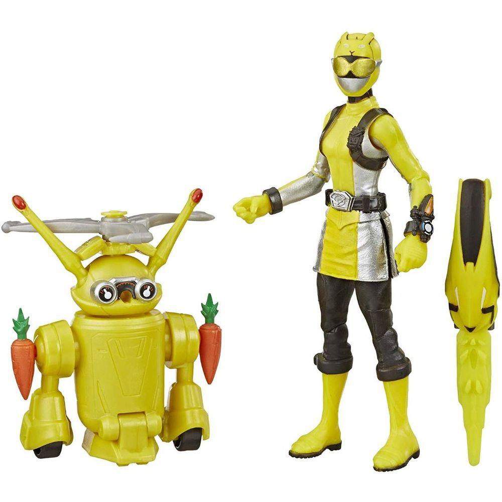 Power Rangers - Beast Morphers - Ranger amarela & Jax Beastbot - Hasbro