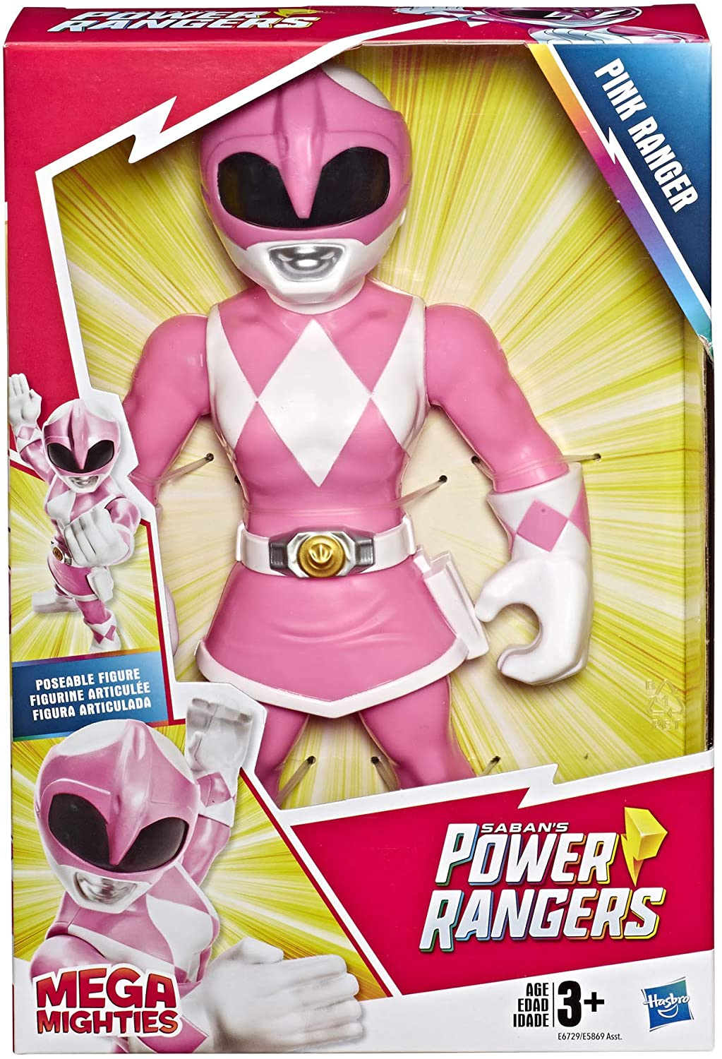 Power Rangers - Pink Ranger Mega Mighties - Playskool - HasbroE5869