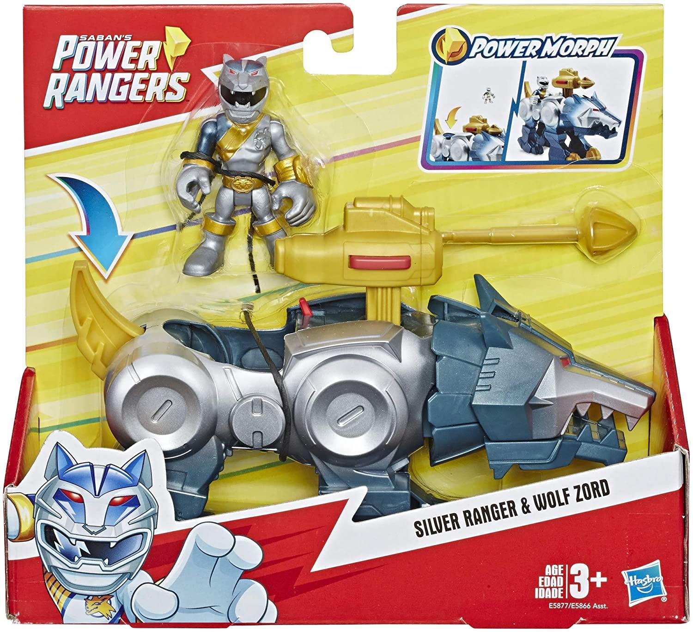 Power Rangers - Silver Ranger & Wolf Zord - Hasbro E5866