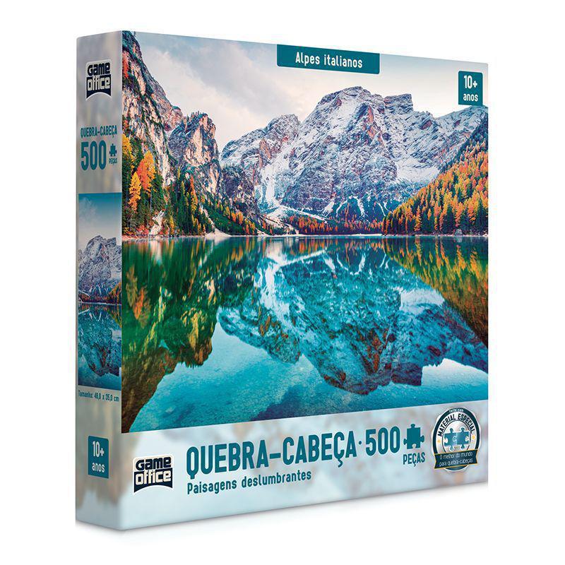 Quebra Cabeça - Alpes Italianos Paisagem 500 Peças - Toyster