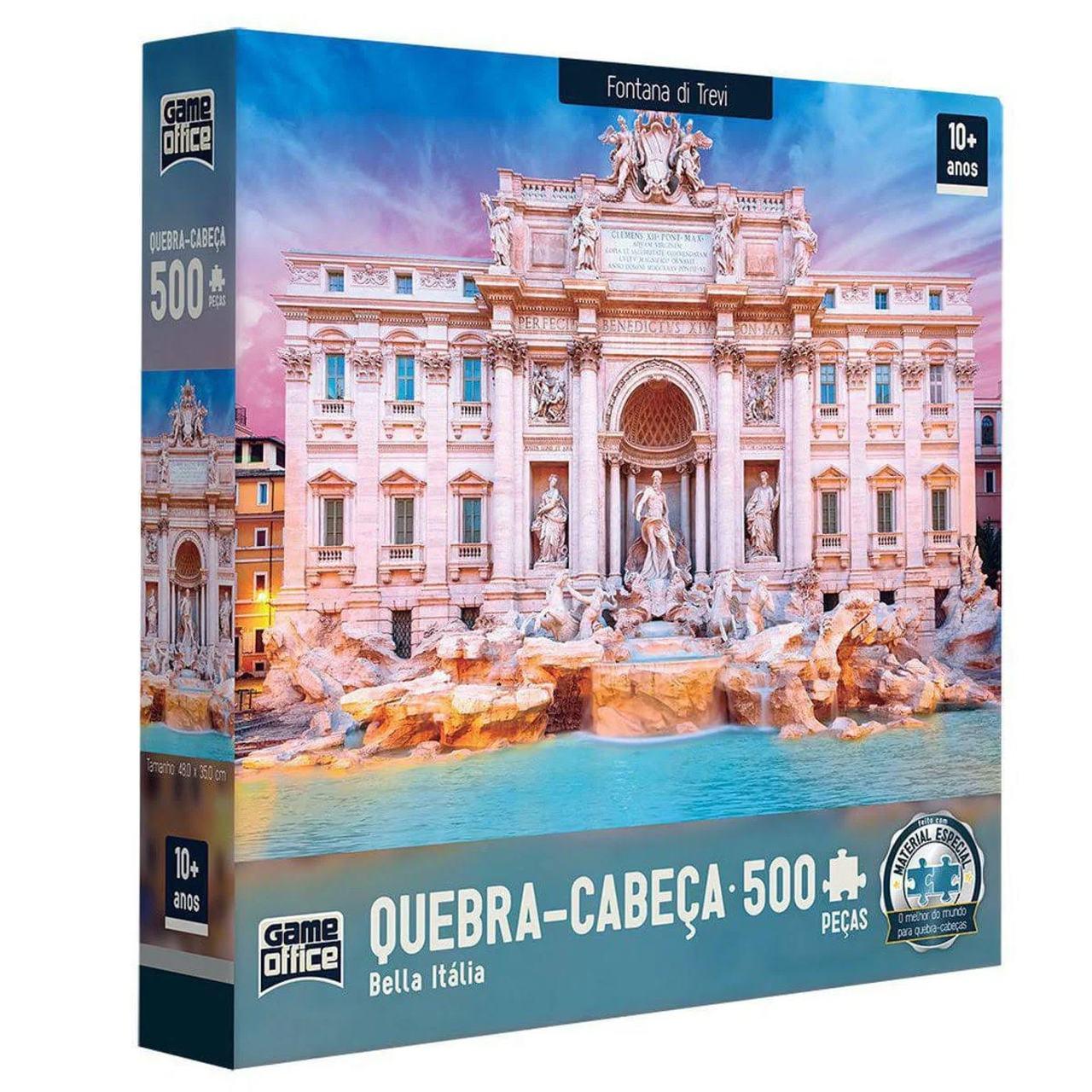 Quebra Cabeça - Fontana de Trevi 500 peças Italia - Toyster