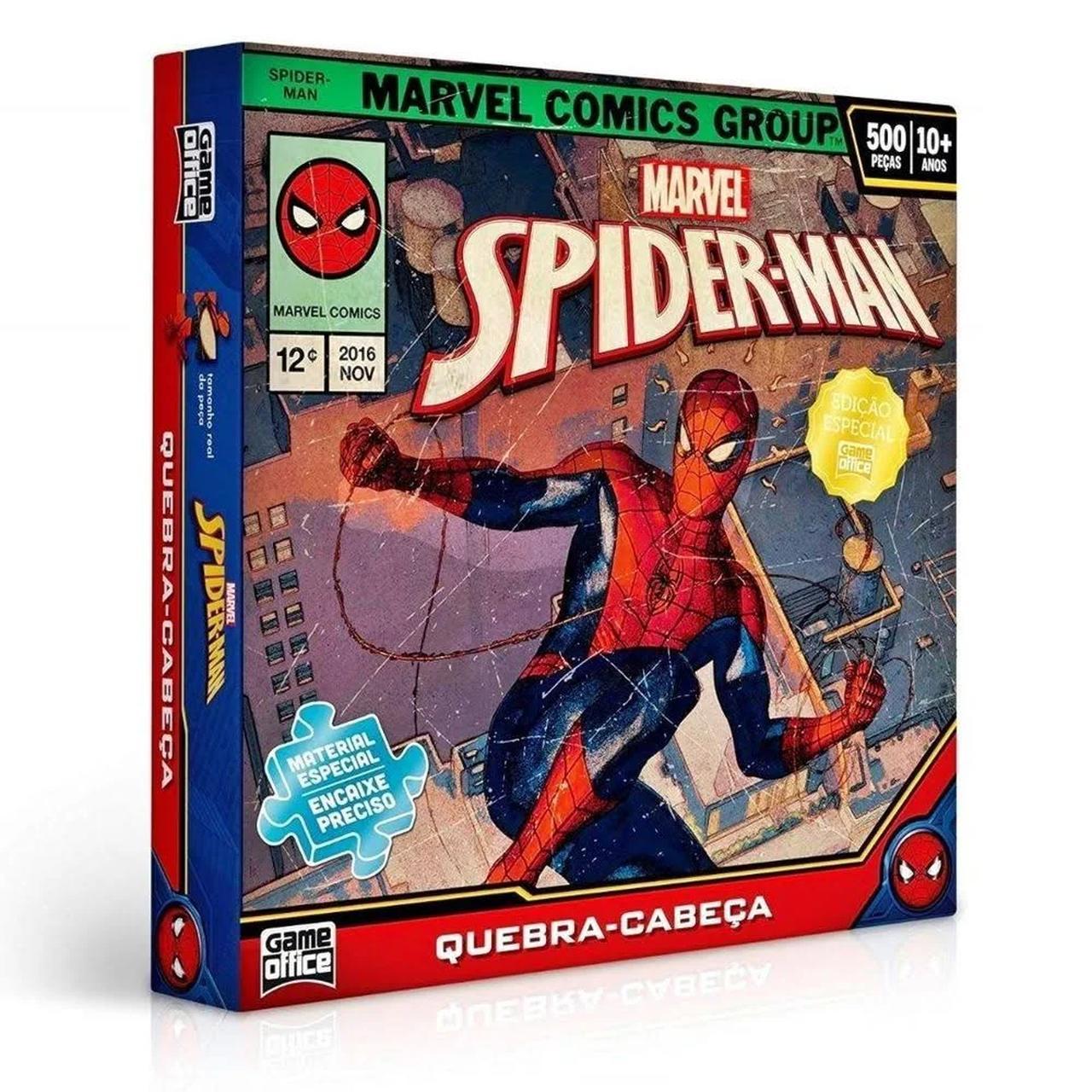 Quebra Cabeça - Homem Aranha Marvel - 500 Peças - Toyster