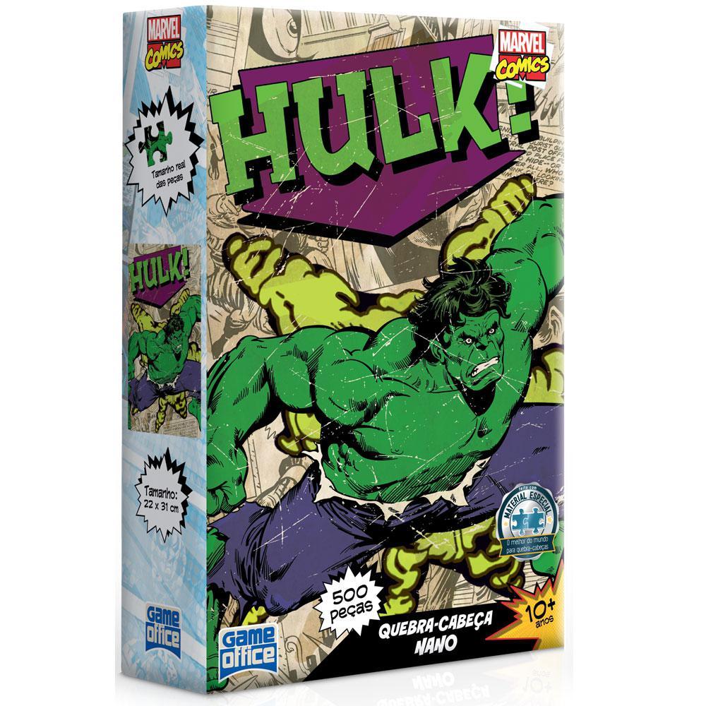 Quebra Cabeça Nano Marvel Comics Hulk 500 Peças - Toyster