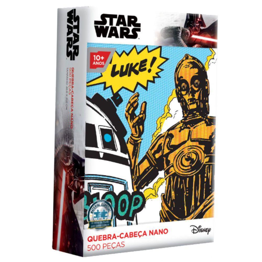 Quebra Cabeça Star Wars Nano - C-3PO 500 Peças - Toyster