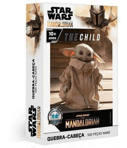 Quebra Cabeça Nano Star Wars Baby Yoda Mandalorian 500 Peças