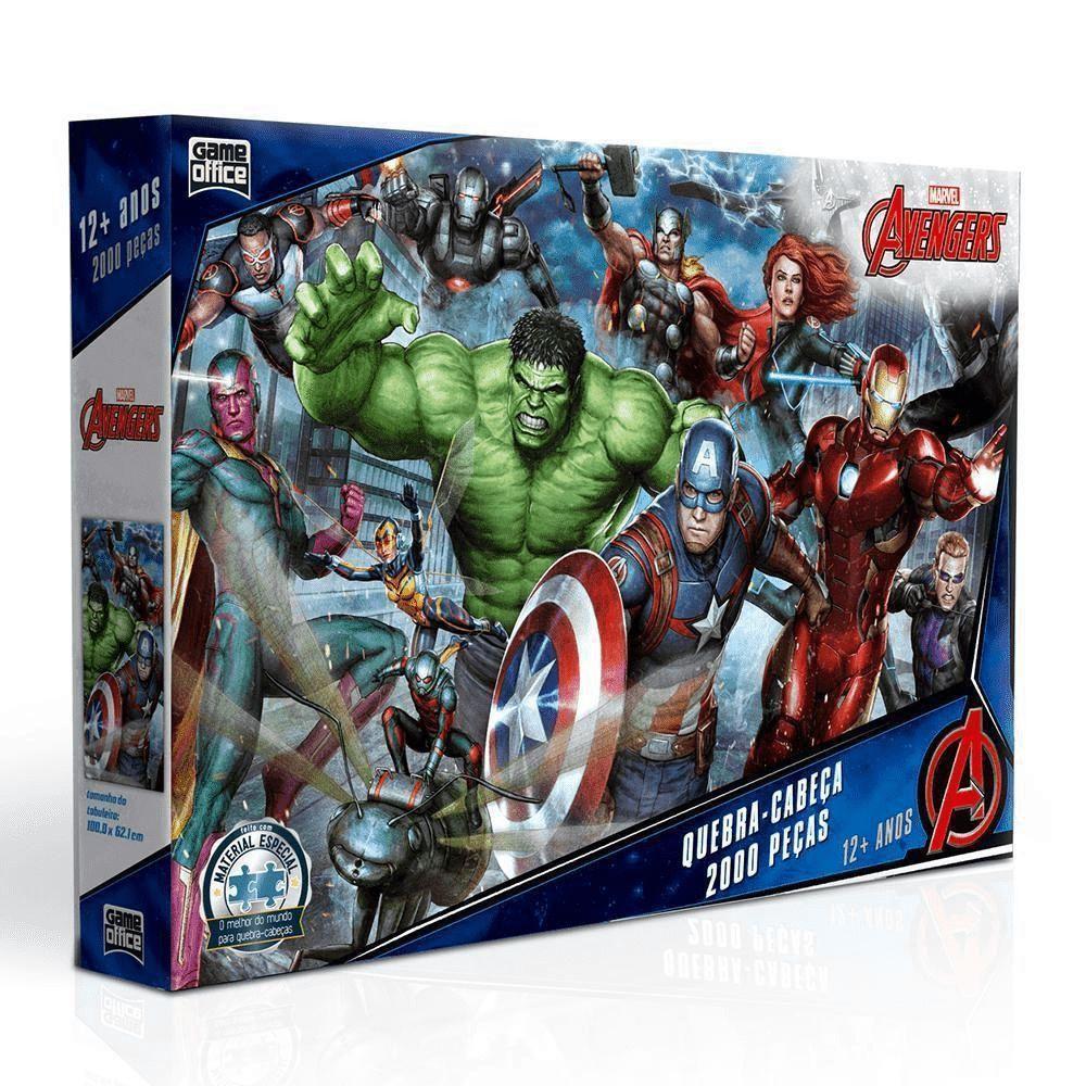 Quebra Cabeça Os Vingadores Marvel - 2000 Peças - Toyster