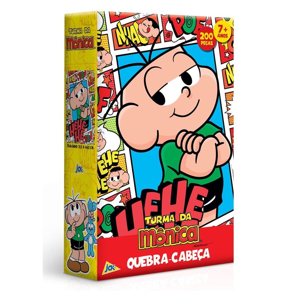 Quebra Cabeça Turma Da Mônica - Cebolinha - 200 Peças Toyste