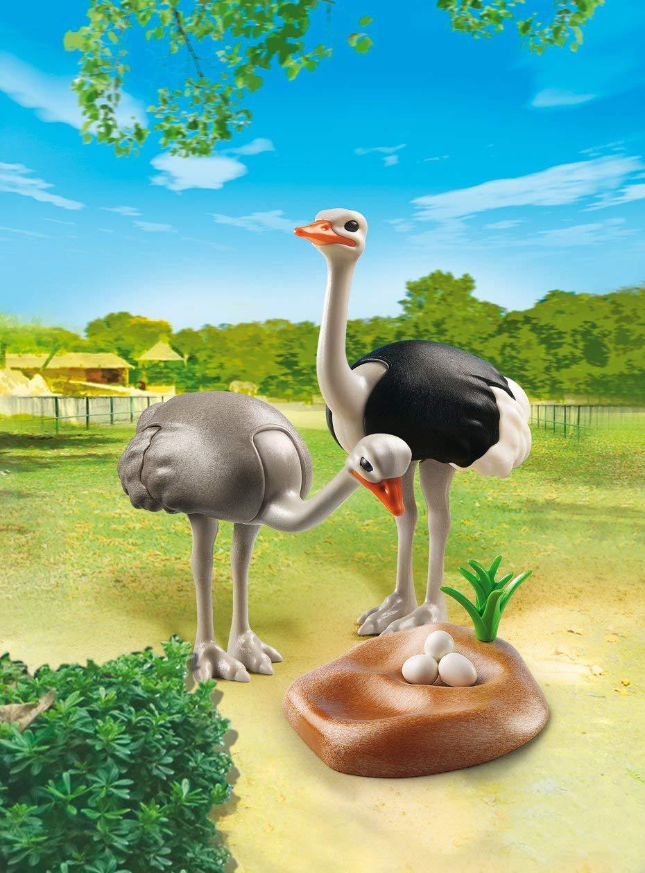 Saquinho Playmobil Animais Zoo - Família Avestruz 6646