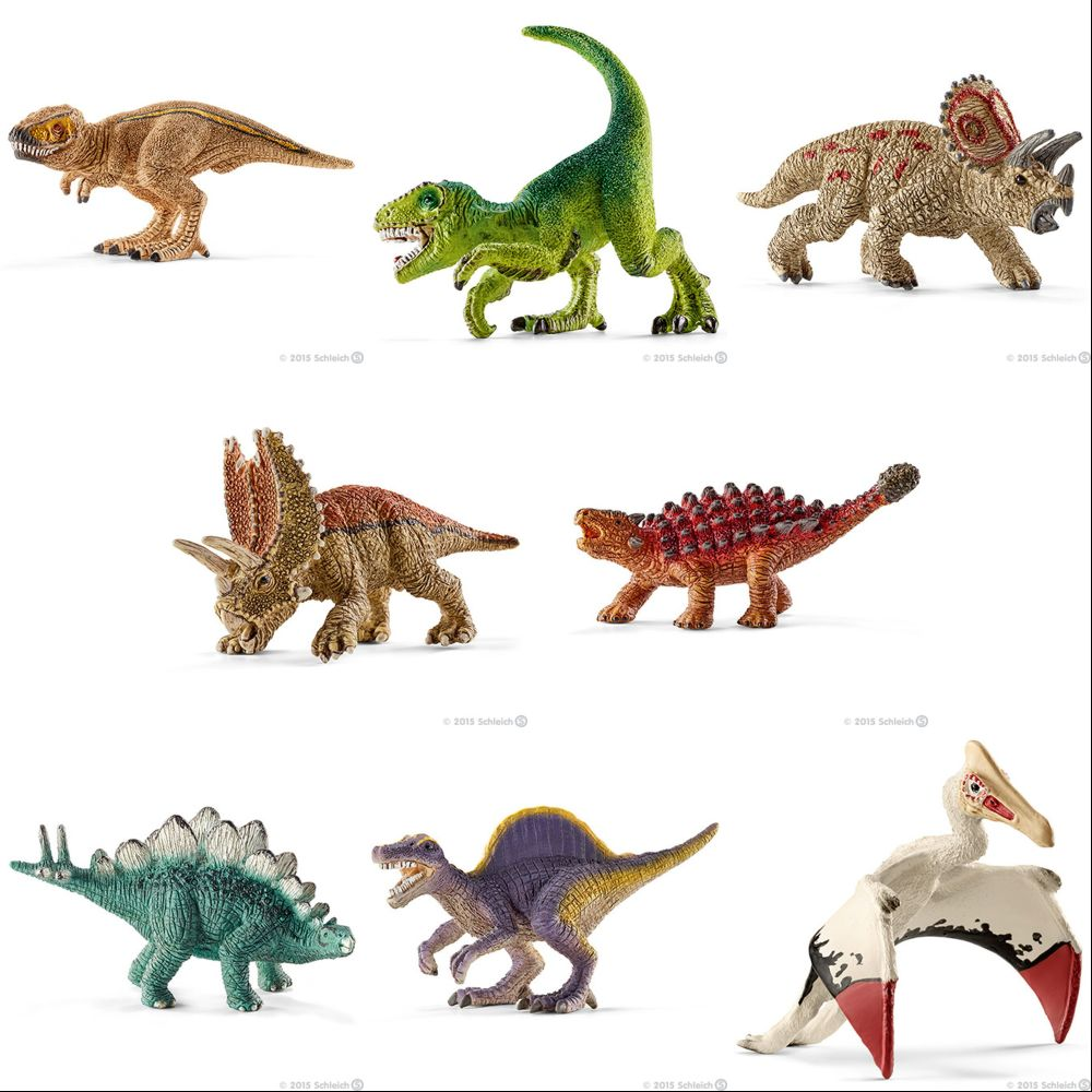 Schleich 14562 - Contém 8 Mini Dinossauros