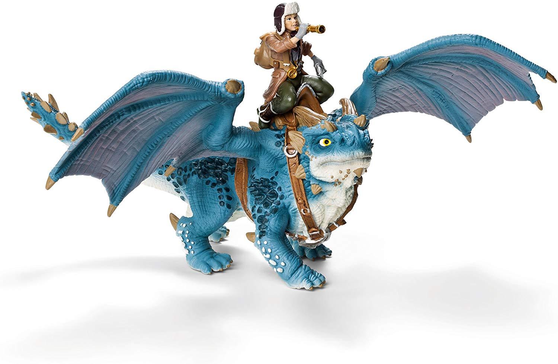 Miniatura Schleich Dragão Azul e Shansy Rider 2 - 70445