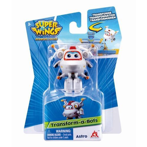 Super Wings Astro - Mini Boneco Transformável 6cm - Fun