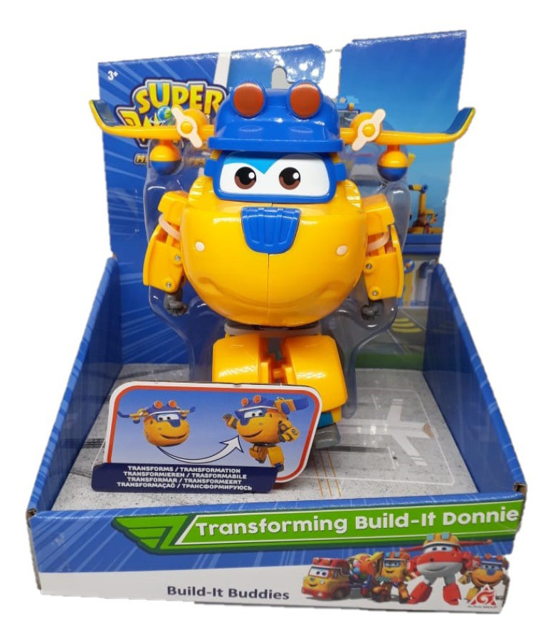 Super Wings Donnie - Boneco Transformável 13cm  Original Fun