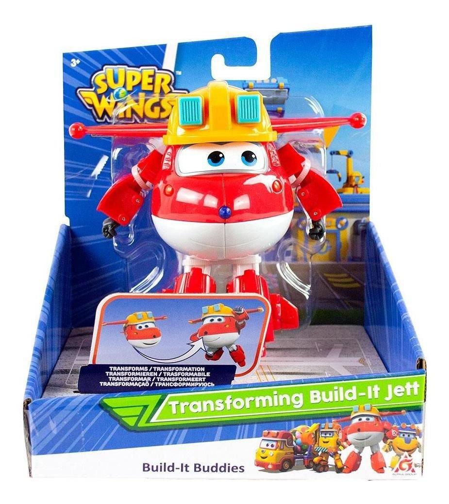 Super Wings Jett Construtor - Boneco Transformável 13cm -Fun
