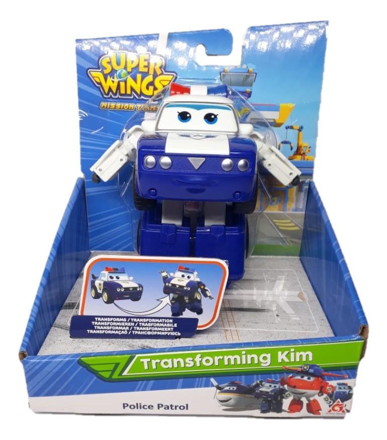 Super Wings Kim - Boneco Transformável 13cm - Original Fun