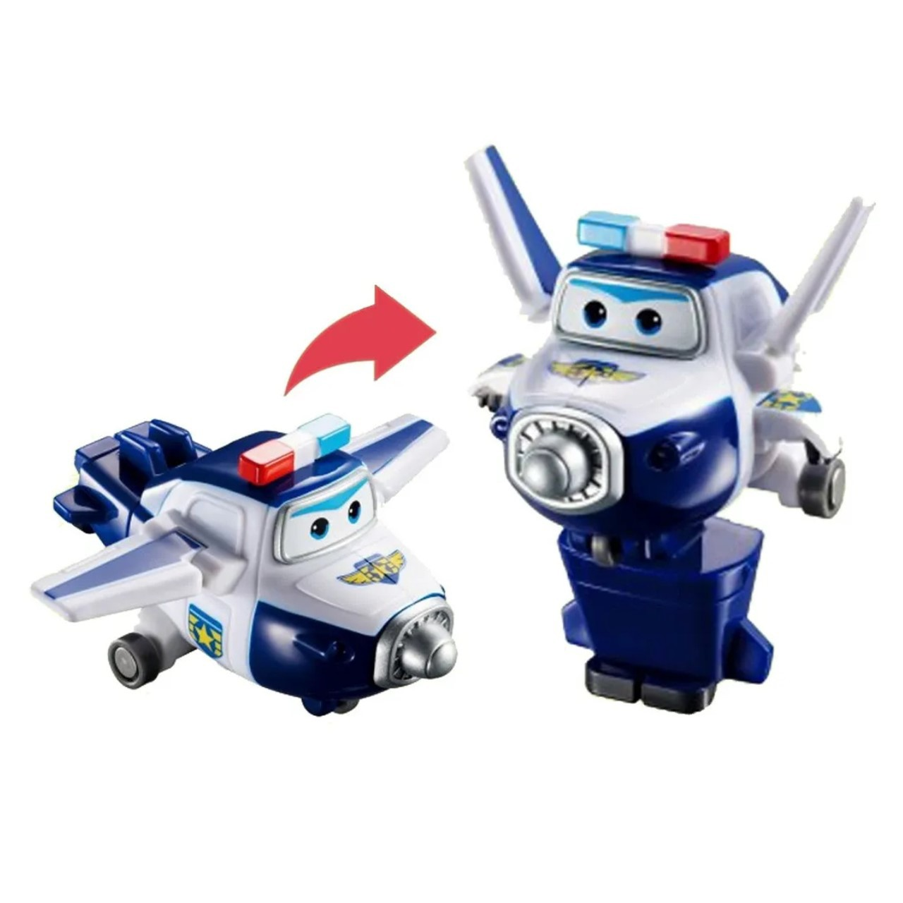 Super Wings Paul - Mini Boneco Transformável 6cm - Fun