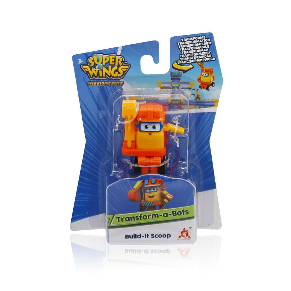 Super Wings Scoop - Mini Boneco Transformável 6cm - Fun