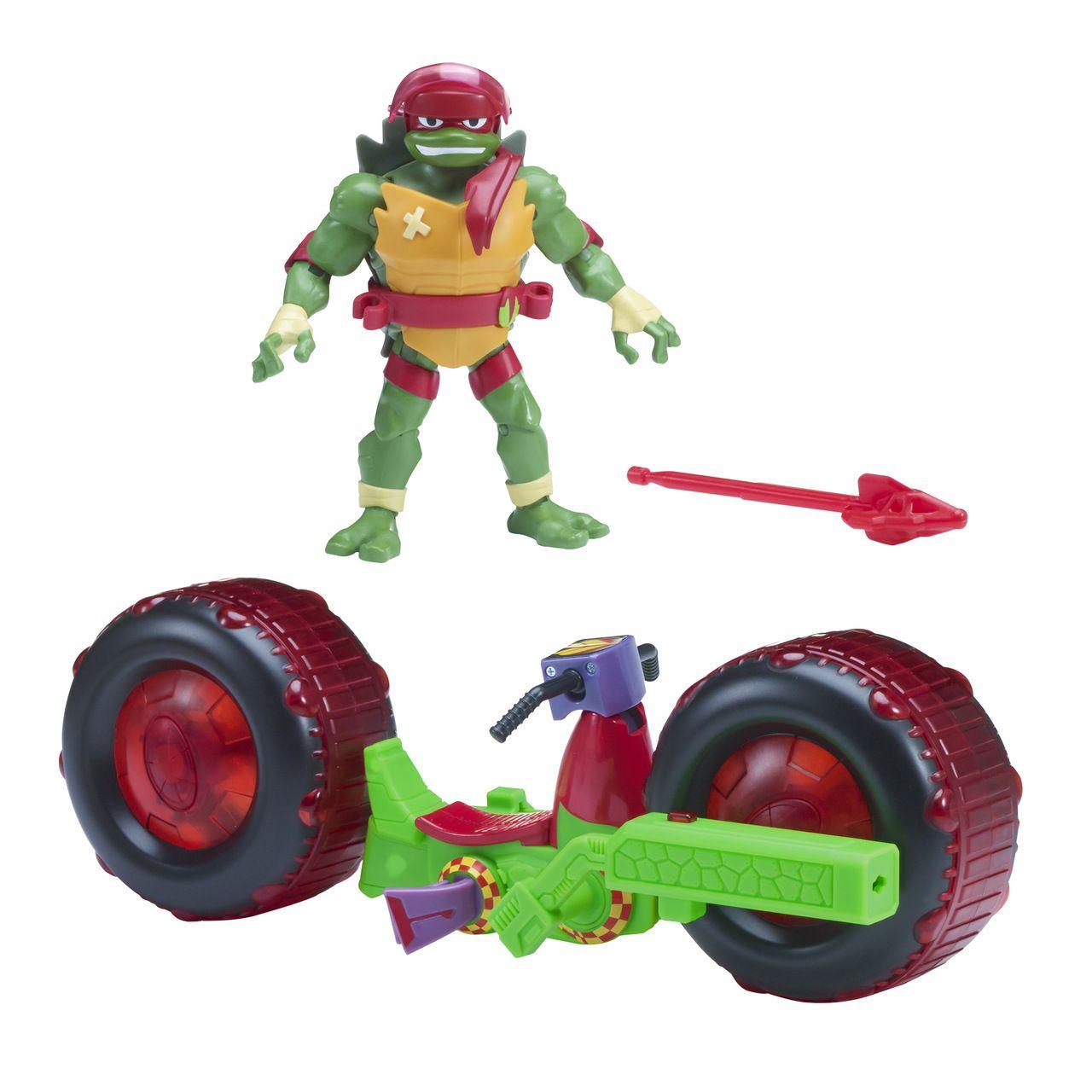 Tartarugas Ninja - Figura e Veículo - Boneco Raphael - Sunny