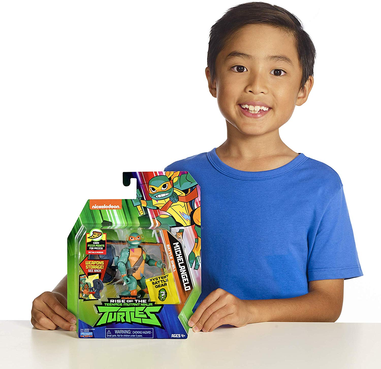 Tartarugas Ninja Figuras de Ação - Michelangelo Porta Armas