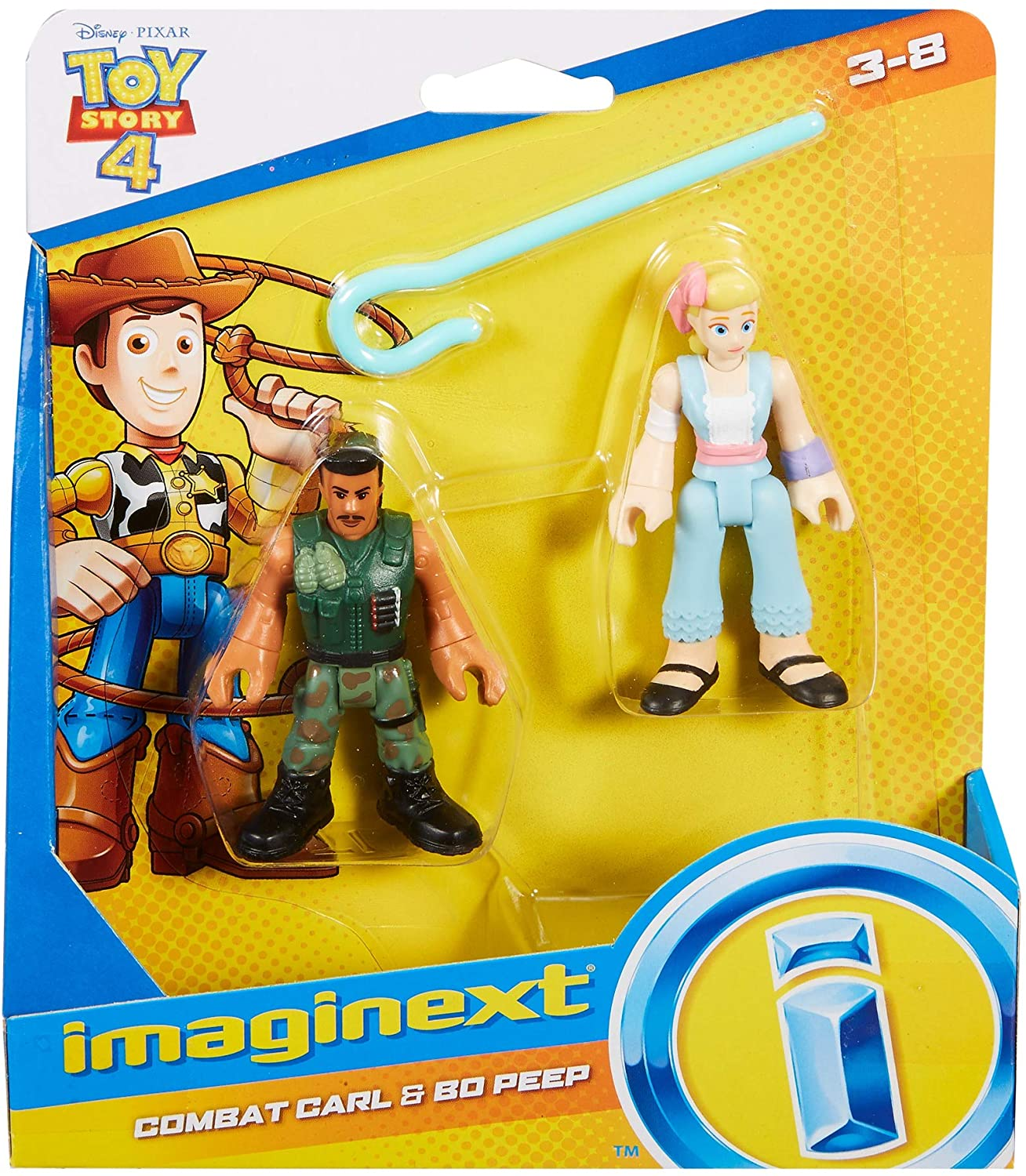 Toy Story - Bonecos - Betty e Combatente - Imaginext Disney
