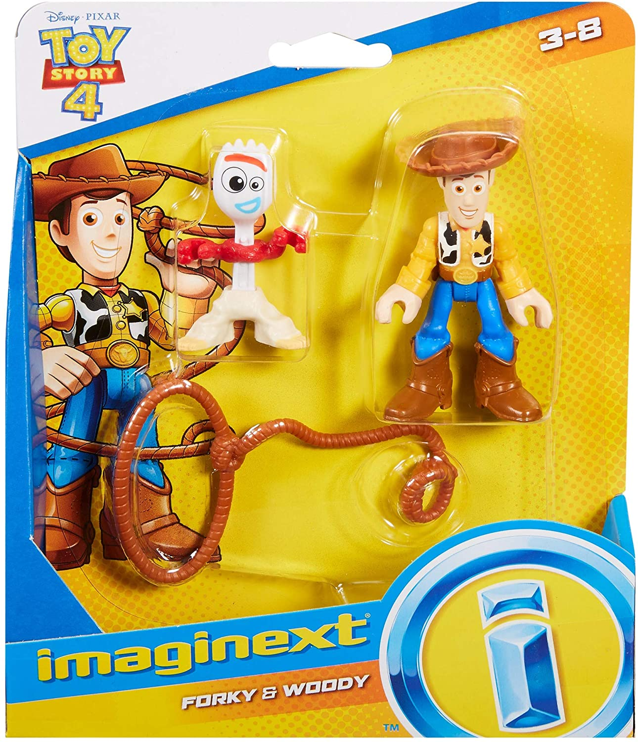 Toy Story - Bonecos - Woody e Garfinho - Imaginext Disney