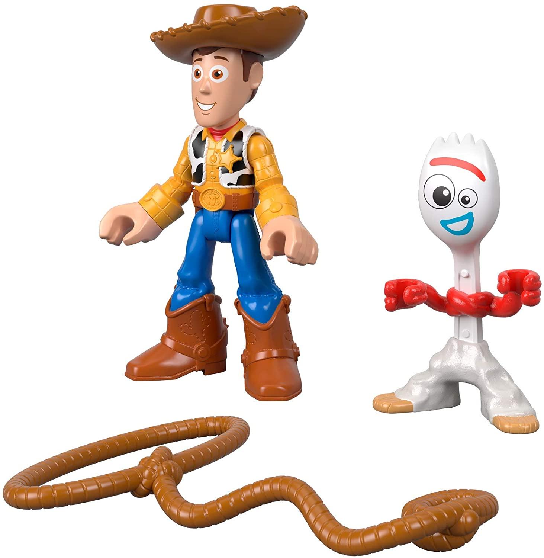 Toy Story - Bonecos - Woody e Garfinho - Imaginext Disney