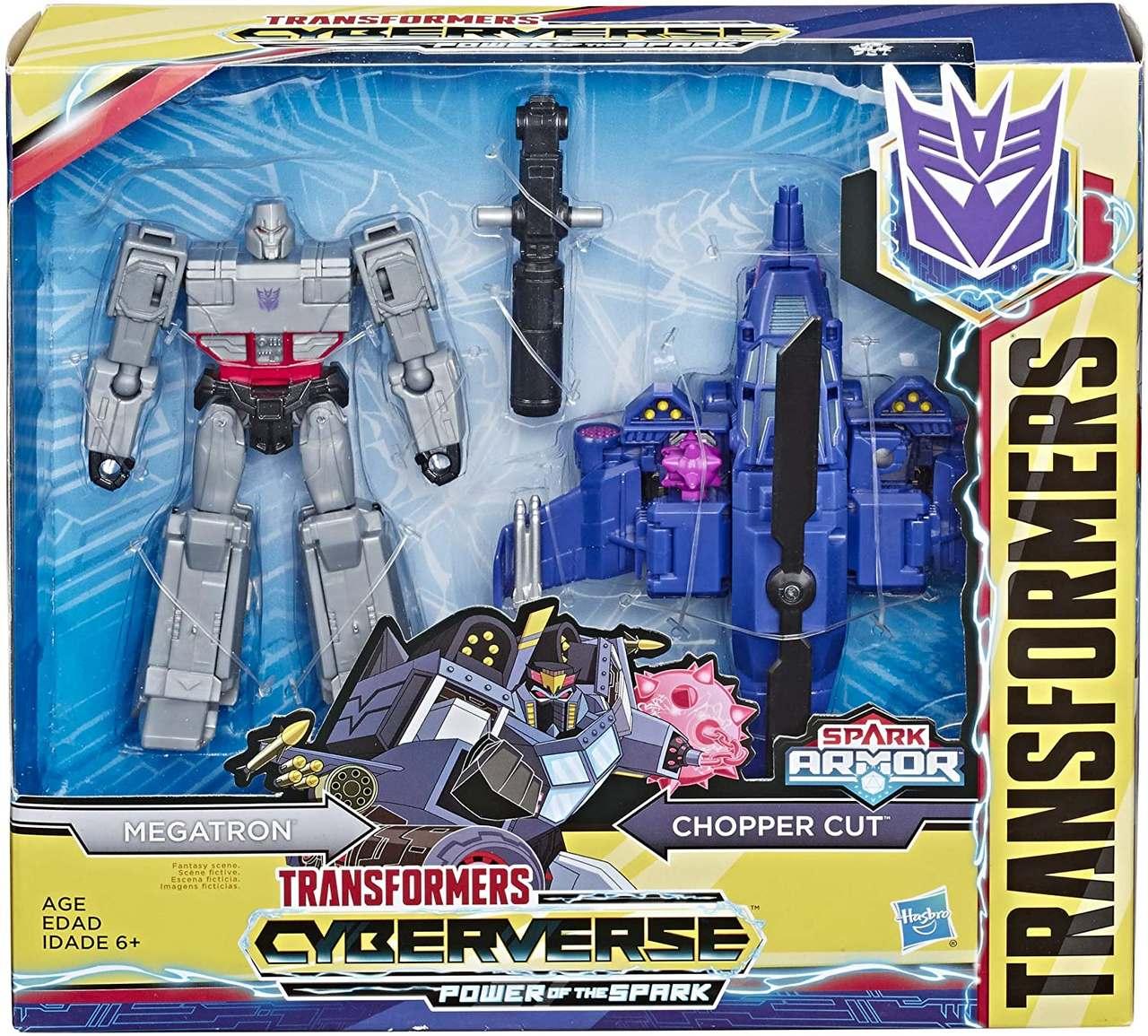 Transformers Spark Armor - Megatron e Chopper Cut - Hasbro