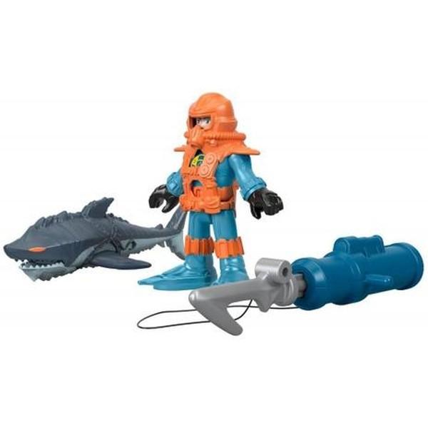 Tubarão - Boneco Mergulhador De Coral - Mattel - Imaginext