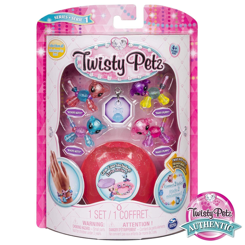 Twisty Petz Pulseira - 4 Mini Figuras - Gato e Cãozinho