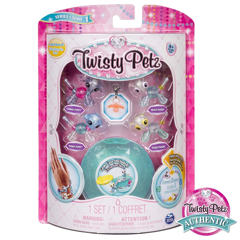 Twisty Petz Pulseira - 4 Mini Figuras - Panda e Cãozinho