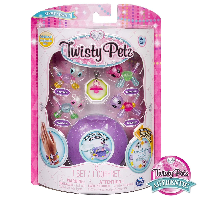 Twisty Petz Pulseira - 4 Mini Figuras - Panda e Gato - Sunny