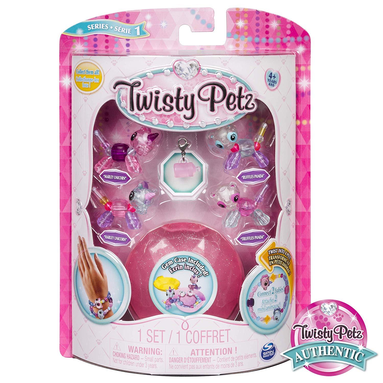 Twisty Petz Pulseira - 4 Mini Figuras - Unicórnio e Panda