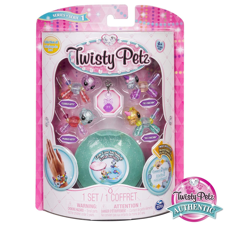 Twisty Petz Pulseira - 4 Mini Figuras - Unicórnio e Gato