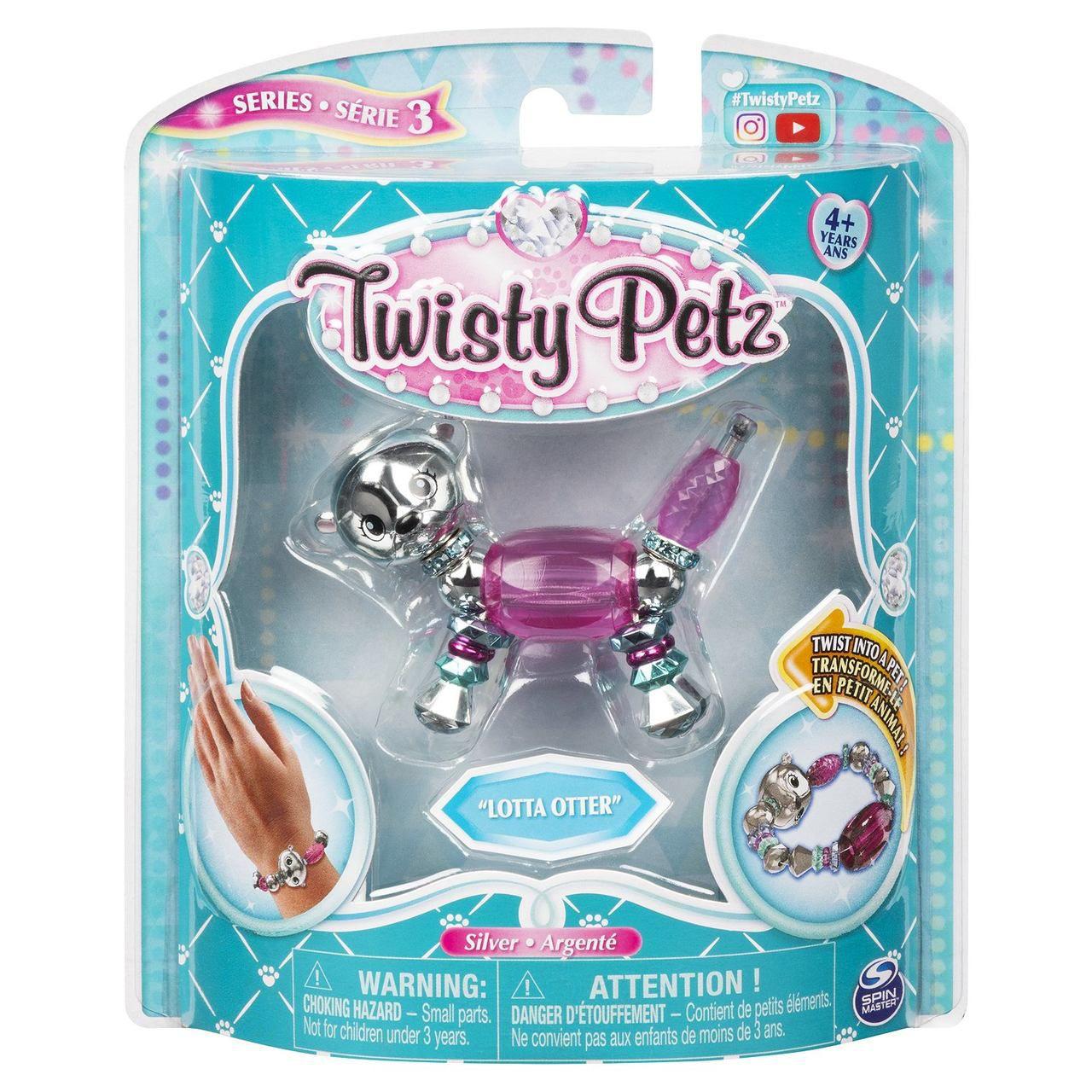 Twisty Petz Pulseira  Single - Lotta Otter Lontra - Sunny
