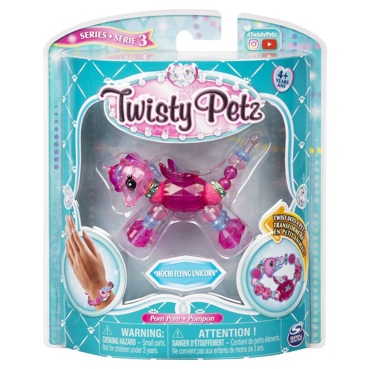 Twisty Petz Pulseira Single - Mochi Flying Unicórnio  Sunny