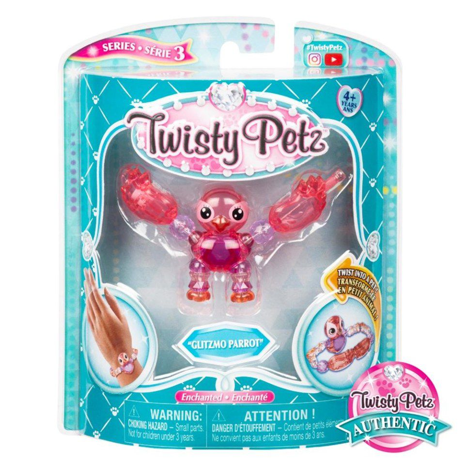 Twisty Petz Pulseira Single - Papagaio Glitzmo Parrot Sunny