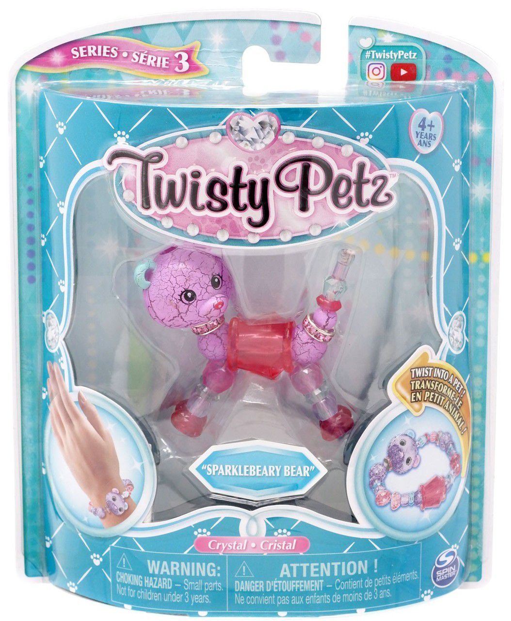 Twisty Petz Pulseira Single - Sparklebeary Bear Urso - Sunny
