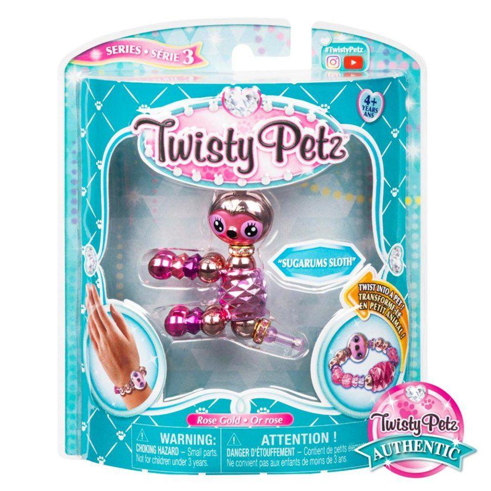 Twisty Petz Pulseira  Single - Sugarums Sloth Preguiça Sunny