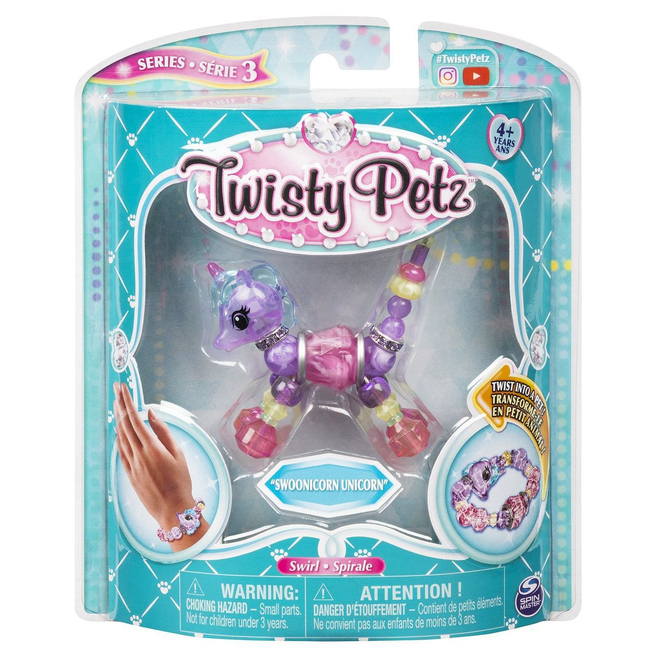 Twisty Petz Pulseira - Single - Swoonicorn Unicórnio - Sunny