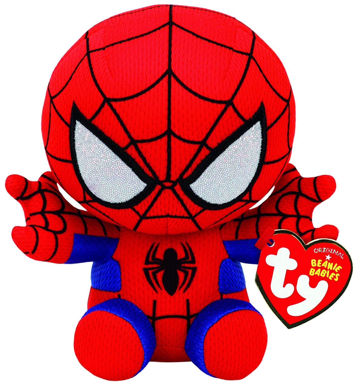 Ty Beanie Babies - Pelúcia Homem Aranha - 15 cm - Original