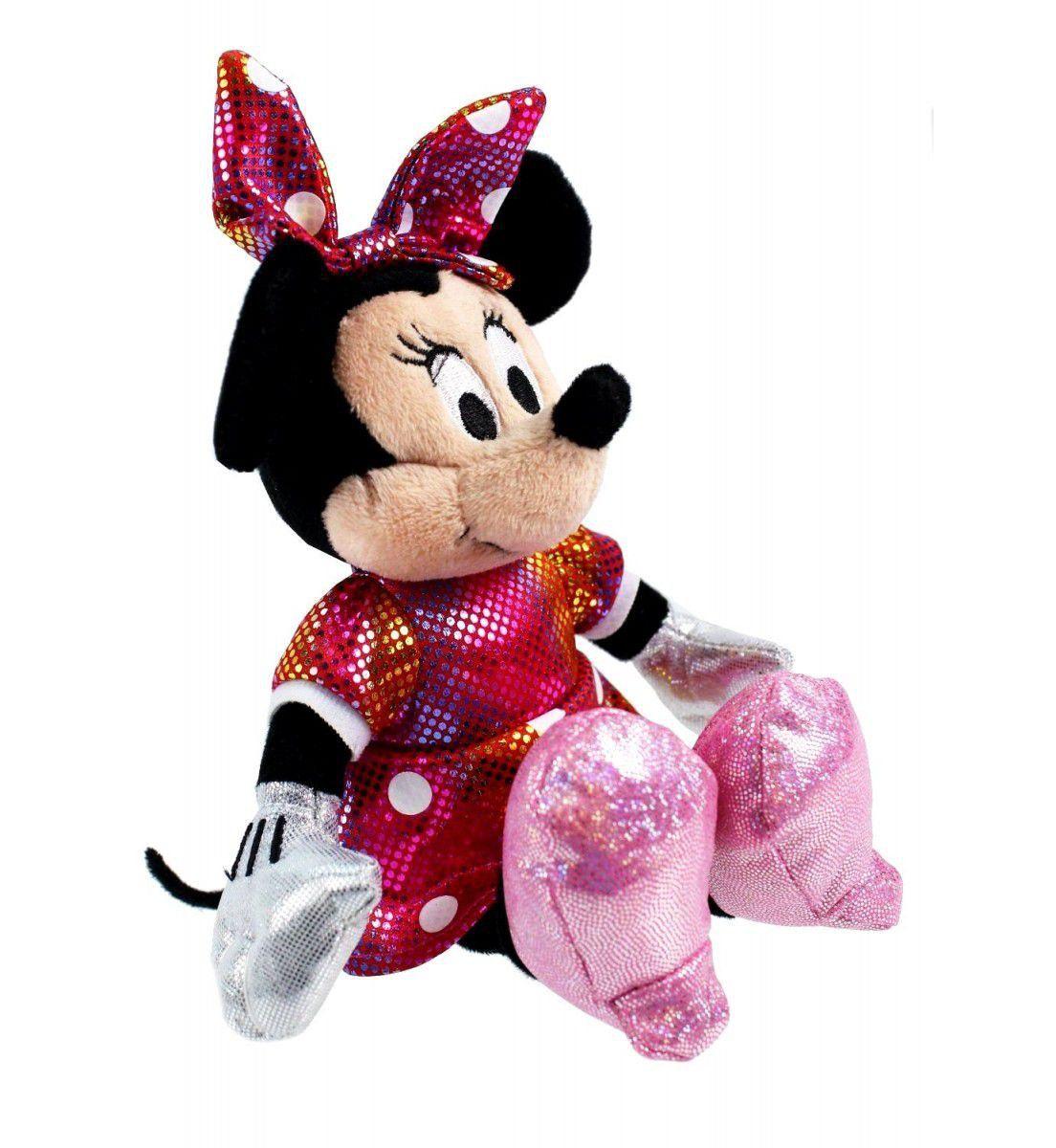 Ty Beanie Babies - Pelúcia Minnie Vermelho - 20 cm - Original