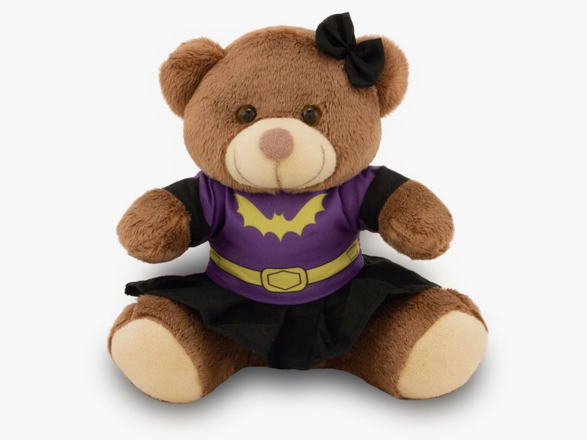 Ursinho Fantasia de Super-Herói - Batgirl 30 cm - Toybrink
