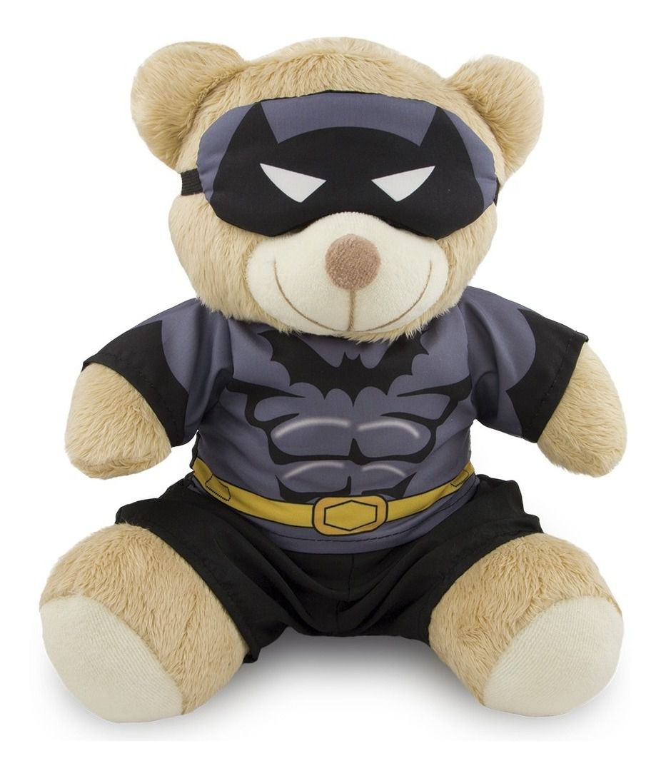 Ursinho Fantasia de Super-Herói - Batman 30cm - Original Toybrink