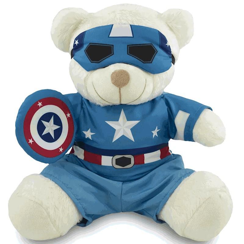 Ursinho Fantasia de Super-Herói - Capitão América 30 cm - Original Toybrink