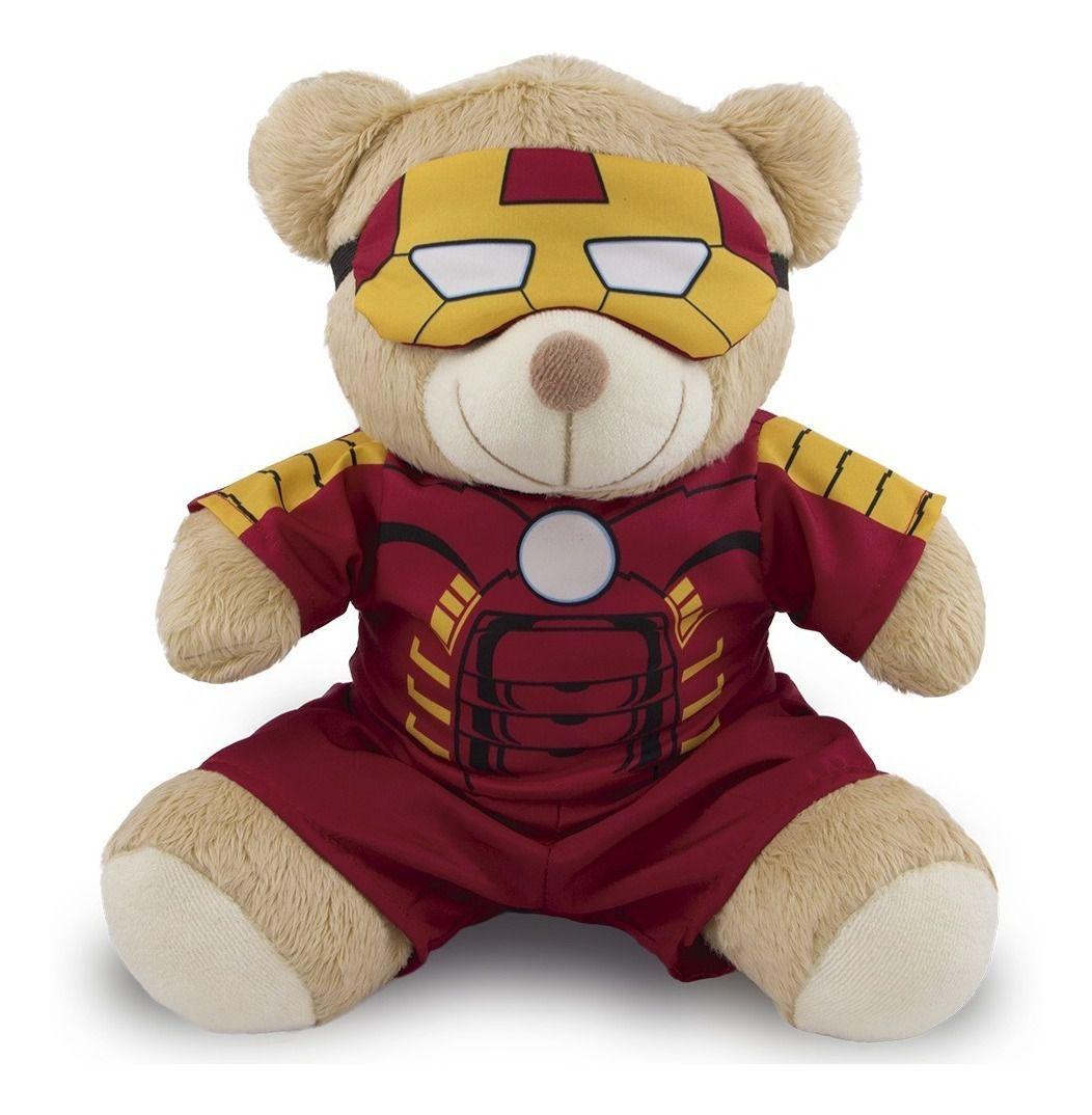 Ursinho Fantasia de Super-Herói - Homem de Ferro 30cm - Original Toybrink