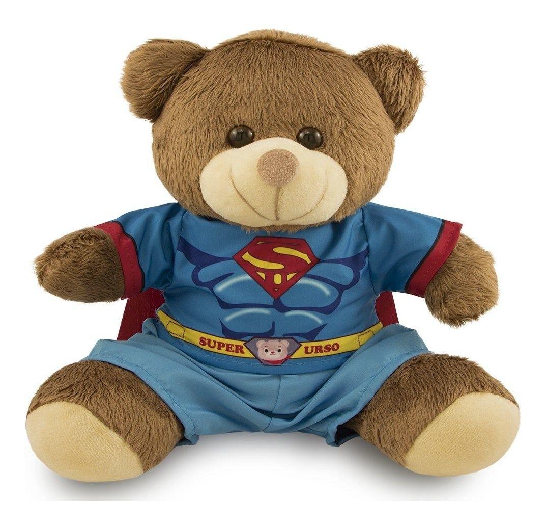 Ursinho Fantasia de Super-Herói - Superman 30cm - Original Toybrink