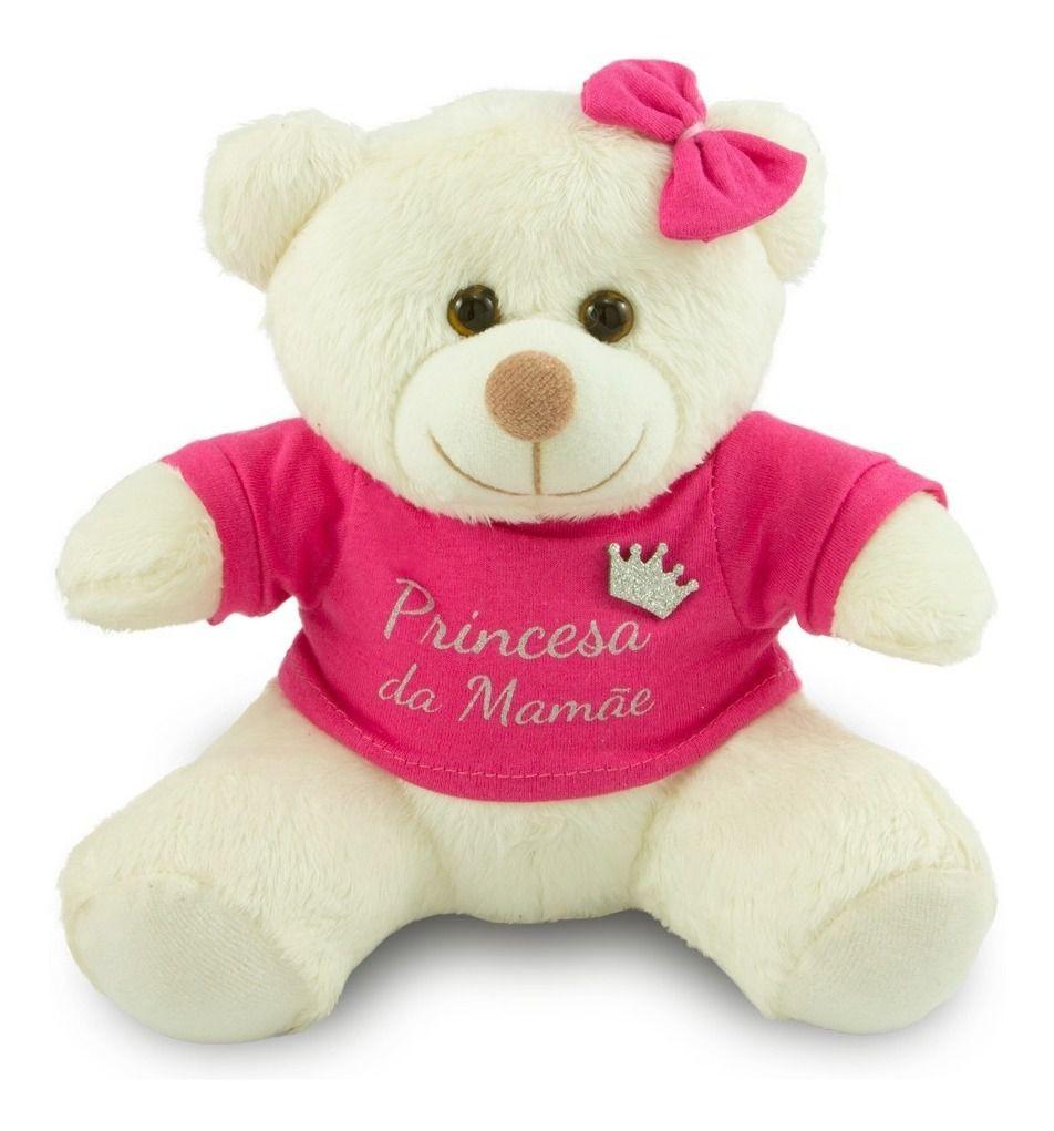 Urso de Pelúcia - Princesa da Mamãe - 25cm - Escolha a Cor