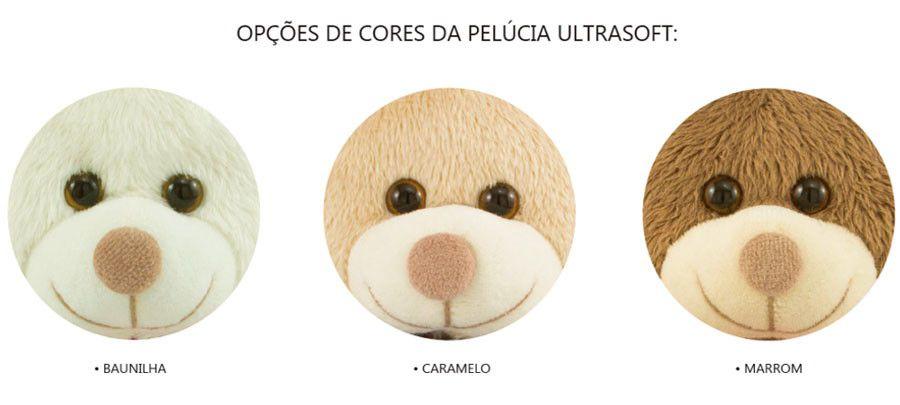 Urso de Pelúcia - Você me Faz Feliz  - 45 cm - Escolha a Cor