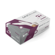 Luva Descartável Unigloves Branca - Látex Standard c/100