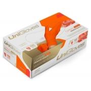 Luva Latex Laranja  Unigloves S/ Pó Caixa C/ 100