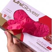 Luva Vermelha Cereja Látex S/pó Unigloves c/100